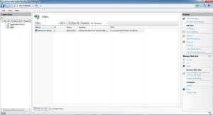 Setelh klik OK maka Web Site yang sudah kita buat akan muncul di IIS Manager