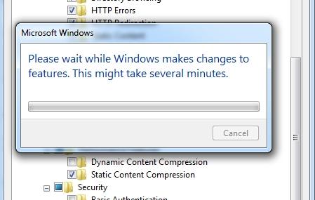 Akan muncul Popup instalasi component, tunggu sampai popup hilang yang artinya semua component yang sudah kita pilih berhasil di install.
